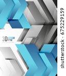 techno arrow background ... | Shutterstock . vector #675229159