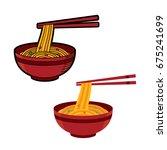 ramen japanese noodle soups....   Shutterstock .eps vector #675241699