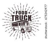 food truck vector stamp or... | Shutterstock .eps vector #675242977