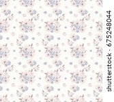 floral seamless pattern with... | Shutterstock . vector #675248044