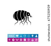 flea concept icon | Shutterstock .eps vector #675250939
