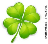Stock vector four leaf clover isolated on white vector illustration for st patrick s day 67525246