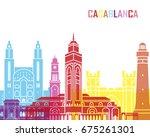 casablanca skyline pop in... | Shutterstock .eps vector #675261301