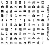 city elements icons | Shutterstock .eps vector #675263569
