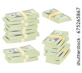 money stacks vector. realistic... | Shutterstock .eps vector #675265867