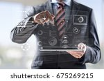business illustration concept. | Shutterstock . vector #675269215