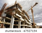 construction site with crane... | Shutterstock . vector #67527154