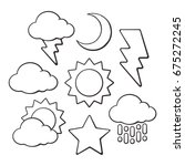 hand drawn doodles of weather... | Shutterstock .eps vector #675272245