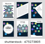 abstract vector layout... | Shutterstock .eps vector #675273805