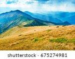 mountain landscape. range with... | Shutterstock . vector #675274981