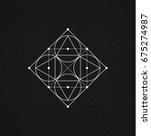 sacred geometry. vector... | Shutterstock .eps vector #675274987