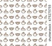 sweet bakery seamless pattern...   Shutterstock . vector #675275755