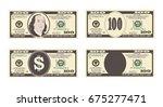 100 dollars banknote.    Shutterstock .eps vector #675277471