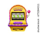 slot machine illustration.... | Shutterstock .eps vector #675284311