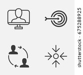corporate icons set. collection ... | Shutterstock .eps vector #675288925
