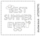 coloring page with hand drawn... | Shutterstock .eps vector #675290791