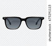 realistic fashion sun glasses... | Shutterstock .eps vector #675291115