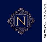 elegant monogram design... | Shutterstock .eps vector #675292684