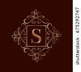 elegant monogram design... | Shutterstock .eps vector #675292747