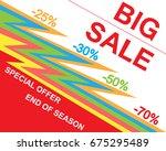 big super sale poster  banner.... | Shutterstock .eps vector #675295489