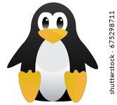 abstract cute penguin in... | Shutterstock .eps vector #675298711
