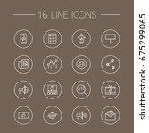 set of 16 commercial outline... | Shutterstock .eps vector #675299065