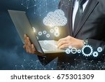 setup data transfer from the... | Shutterstock . vector #675301309