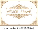 gold photo frame with thai... | Shutterstock .eps vector #675303967