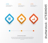 gadget icons set. collection of ... | Shutterstock .eps vector #675304045