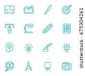 set of 16 creative outline... | Shutterstock .eps vector #675304261