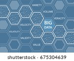 big data vector background with ... | Shutterstock .eps vector #675304639