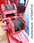 crane under maintenance routine ... | Shutterstock . vector #675304714