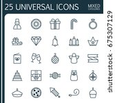 christmas icons set. collection ... | Shutterstock .eps vector #675307129