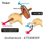 torque example physics lesson... | Shutterstock .eps vector #675308509