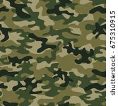 military camo seamless pattern. ... | Shutterstock .eps vector #675310915