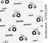 cute seamless pattern with... | Shutterstock .eps vector #675311395