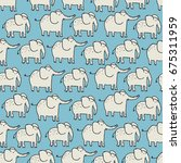 seamless pattern with cute... | Shutterstock .eps vector #675311959
