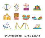set of fairground games  kids...   Shutterstock .eps vector #675313645