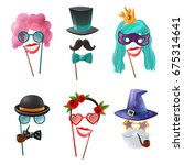 photo booth party set of... | Shutterstock .eps vector #675314641