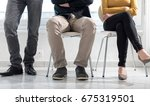group of people waiting for job ... | Shutterstock . vector #675319501