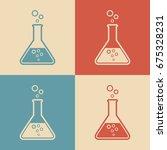 laboratory glass vector icon ... | Shutterstock .eps vector #675328231