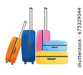 modern suitcase on wheels for...   Shutterstock .eps vector #675329044