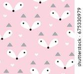 seamless pastel fox pattern... | Shutterstock .eps vector #675330979
