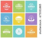 summer holidays design elements ... | Shutterstock .eps vector #675331885
