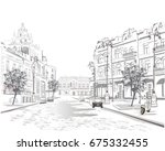series of street views in the... | Shutterstock .eps vector #675332455