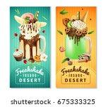extreme freakshake dessert 2... | Shutterstock .eps vector #675333325