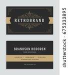 business card vintage ornament... | Shutterstock .eps vector #675333895