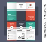creative tri fold brochure ... | Shutterstock .eps vector #675334075