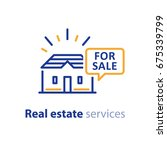 real estate services  house for ... | Shutterstock .eps vector #675339799