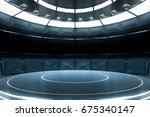 futuristic empty stage. modern... | Shutterstock . vector #675340147